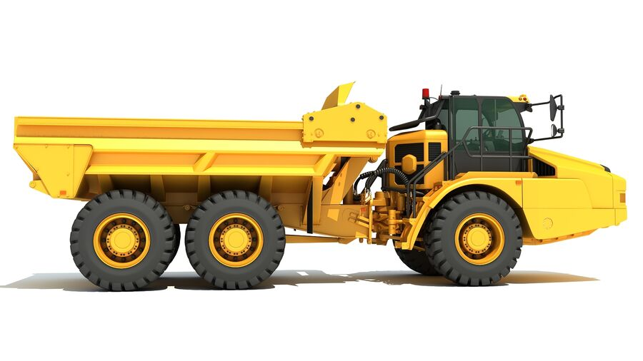 Camion articolato royalty-free 3d model - Preview no. 8