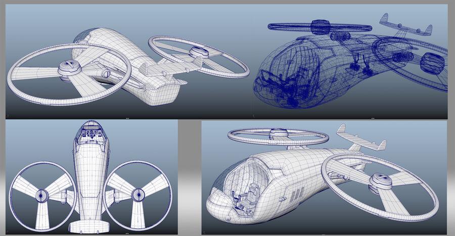 cartoon aircraft royalty-free 3d model - Preview no. 7