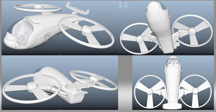 cartoon aircraft royalty-free 3d model - Preview no. 5