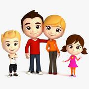 Famille truquée 3d model