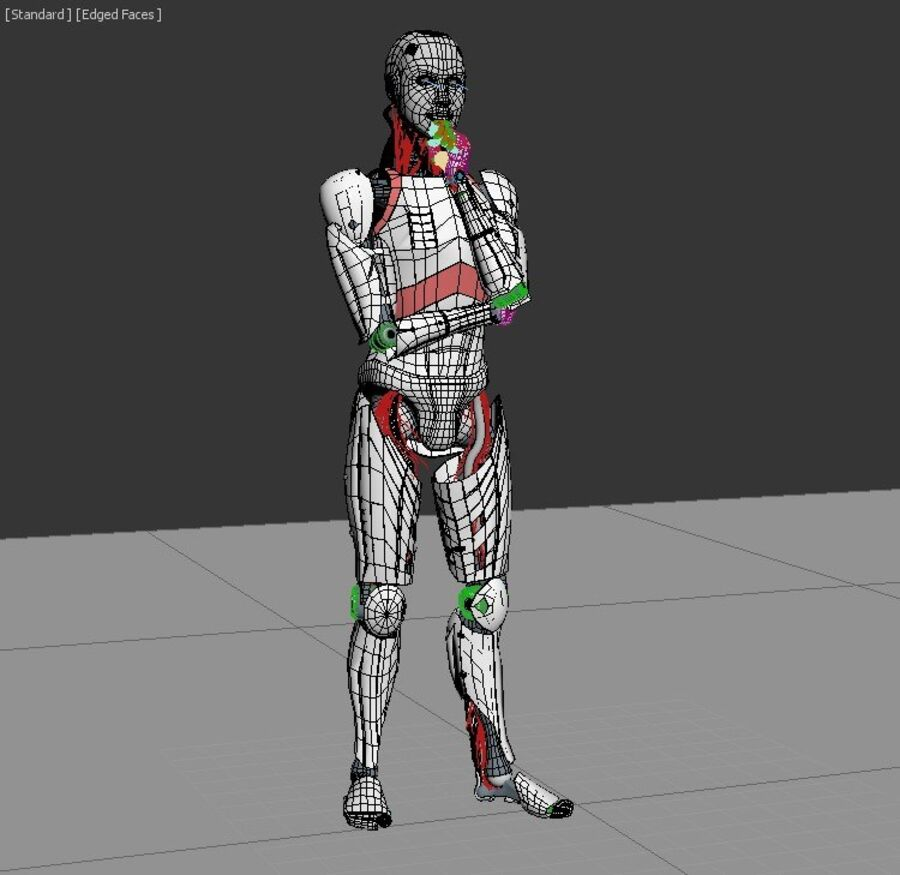 Robot Cyborg Humanoid royalty-free 3d model - Preview no. 2
