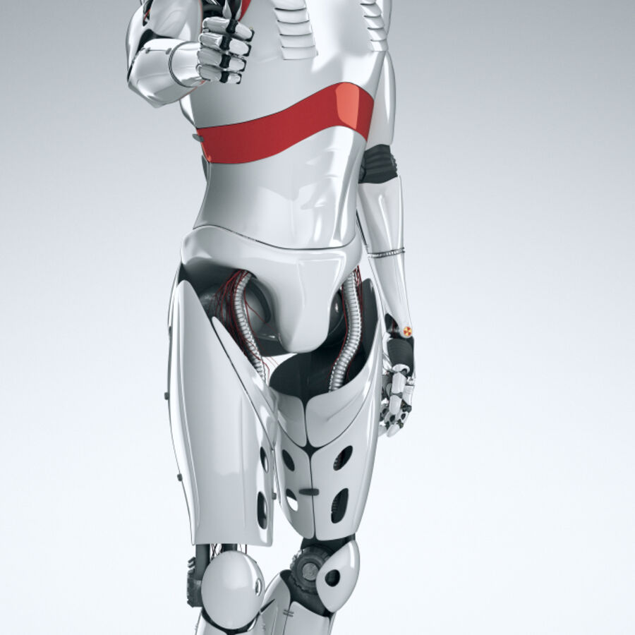 Robot Cyborg Humanoid royalty-free 3d model - Preview no. 13