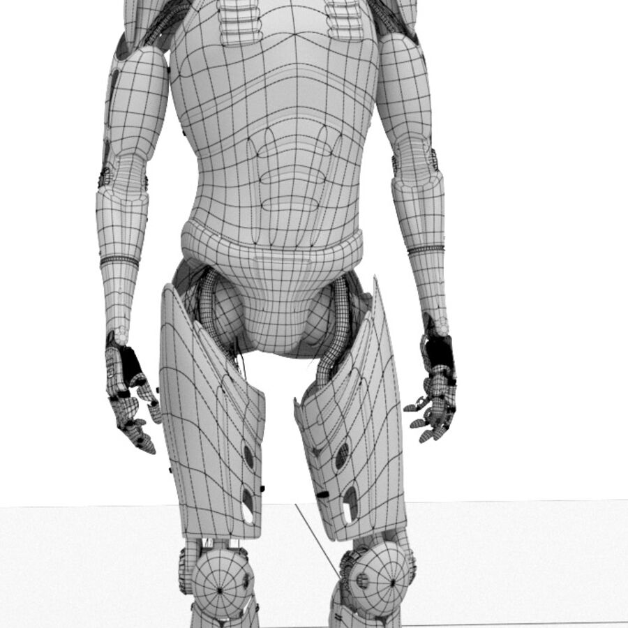 Robot Cyborg Humanoid royalty-free 3d model - Preview no. 10