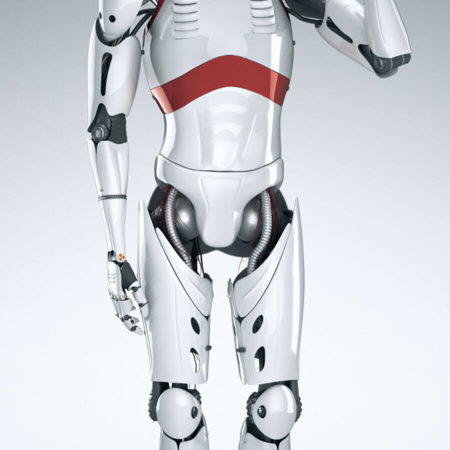Robot Cyborg Humanoid royalty-free 3d model - Preview no. 11