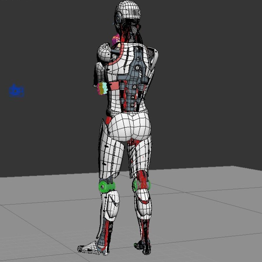 Robot Cyborg Humanoid royalty-free 3d model - Preview no. 4