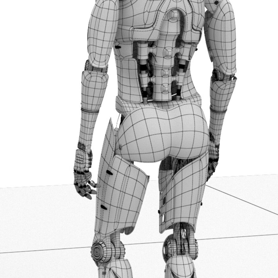 Robot Cyborg Humanoid royalty-free 3d model - Preview no. 12