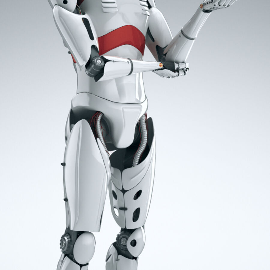 Robot Cyborg Humanoid royalty-free 3d model - Preview no. 9