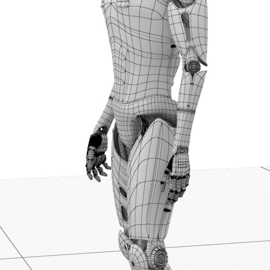Robot Cyborg Humanoid royalty-free 3d model - Preview no. 14