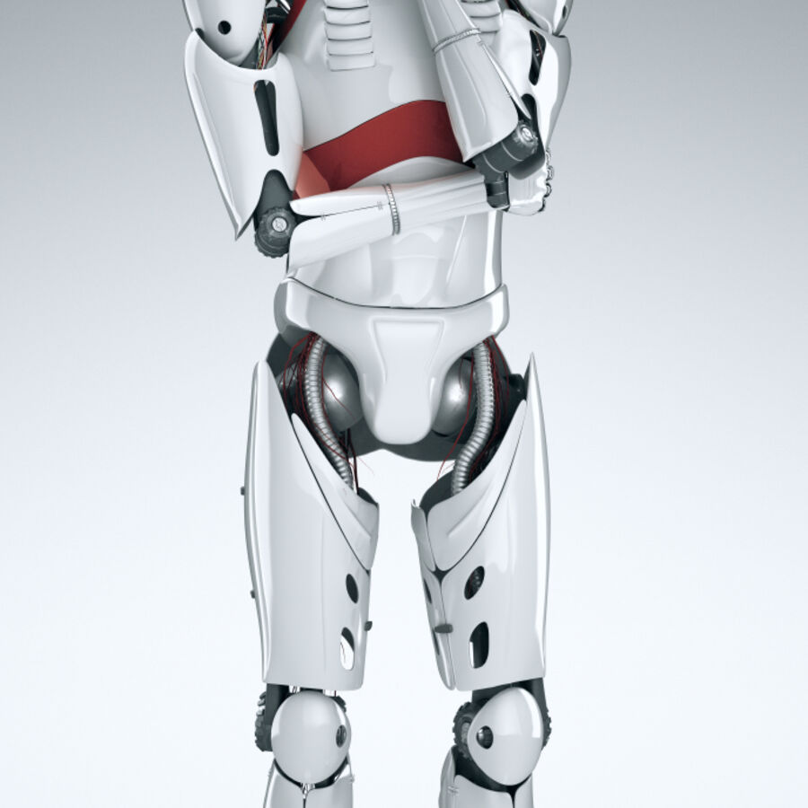 Robot Cyborg Humanoid royalty-free 3d model - Preview no. 5