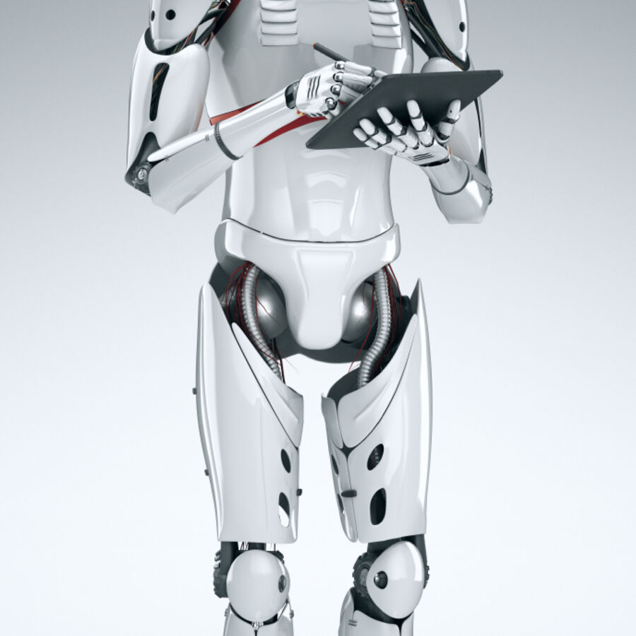 Robot Cyborg Humanoid royalty-free 3d model - Preview no. 7