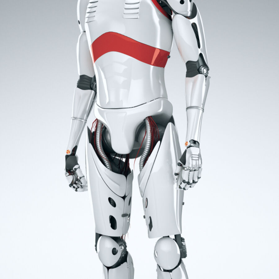 Robot Cyborg Humanoid royalty-free 3d model - Preview no. 3