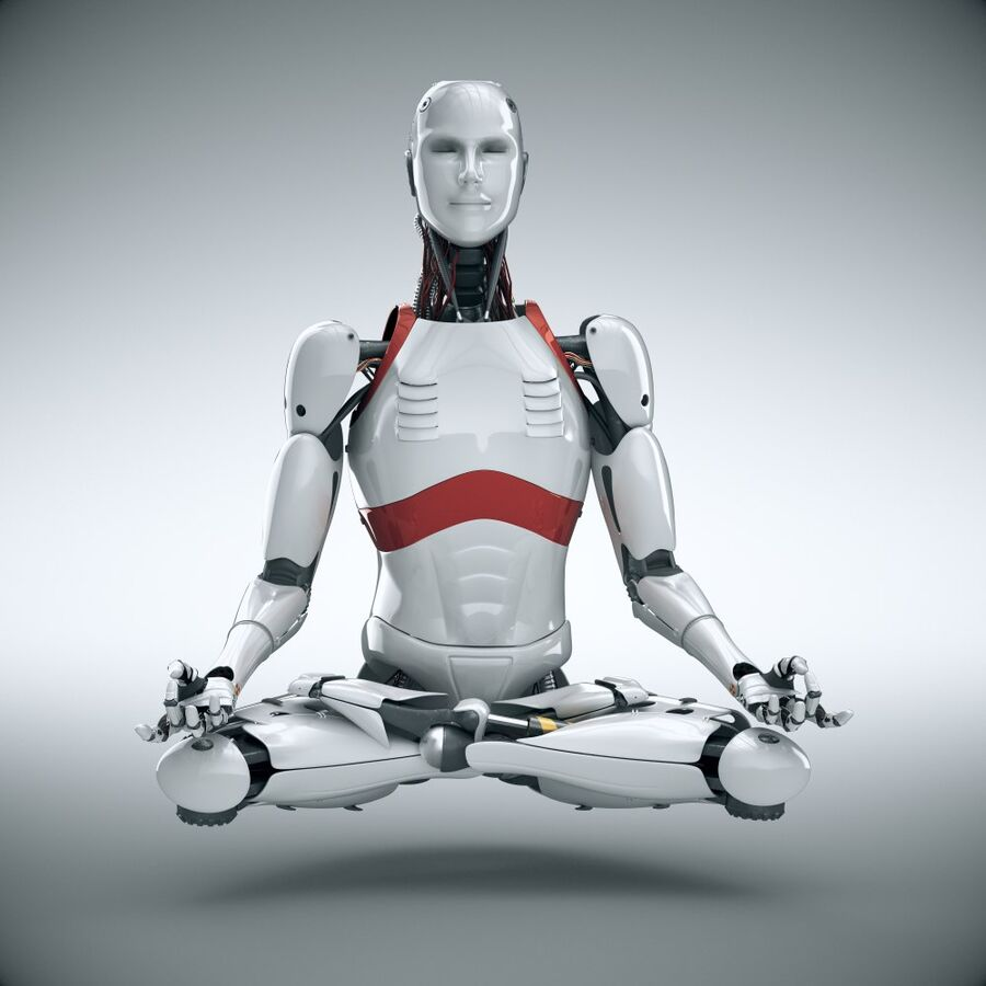 Robot Cyborg Humanoid royalty-free 3d model - Preview no. 1