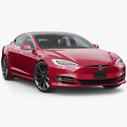Tesla Model S P100D 2020 model 3d model
