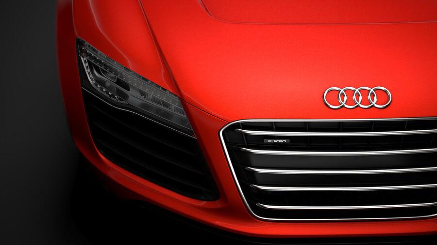 Audi R8 E Tron Spyder del 2016 royalty-free 3d model - Preview no. 10