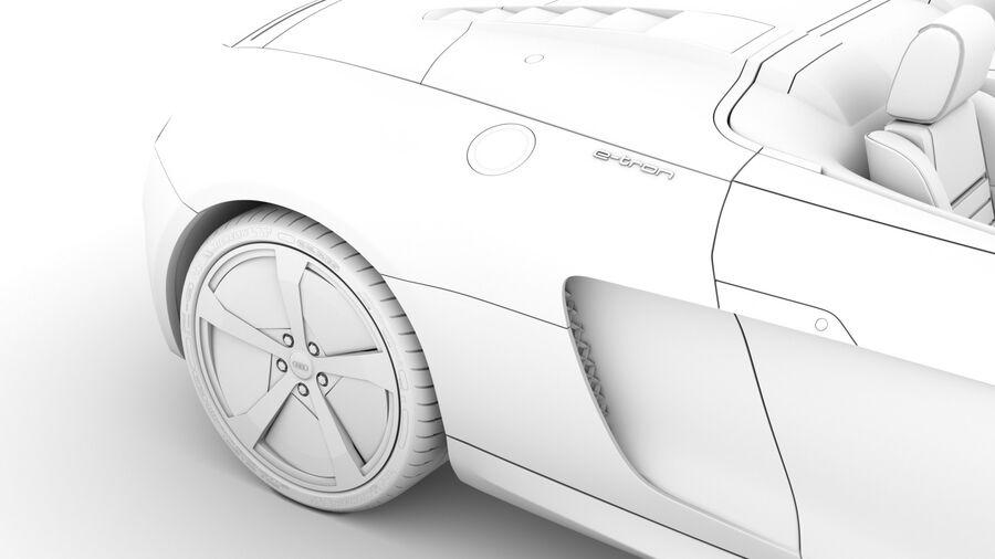 Audi R8 E Tron Spyder del 2016 royalty-free 3d model - Preview no. 26