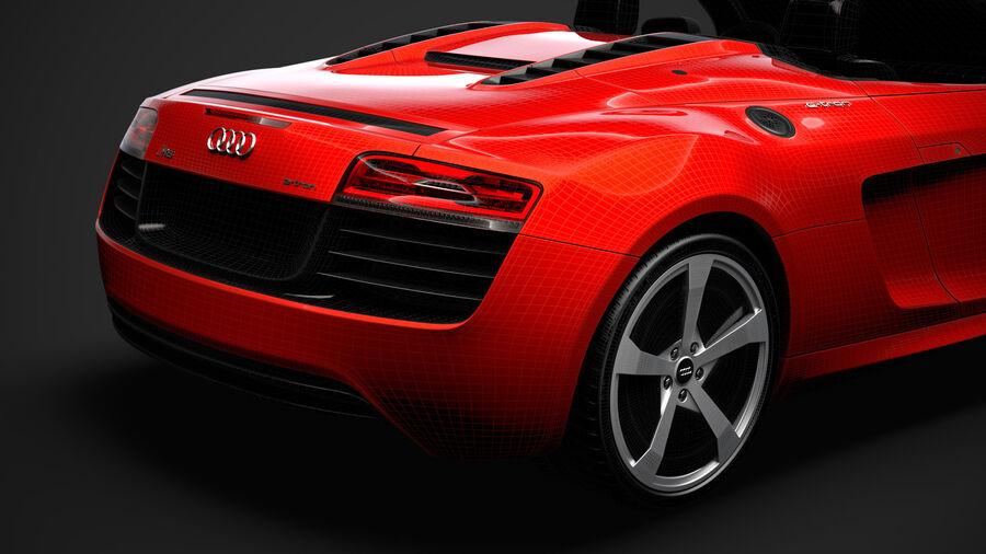 Audi R8 E Tron Spyder del 2016 royalty-free 3d model - Preview no. 39