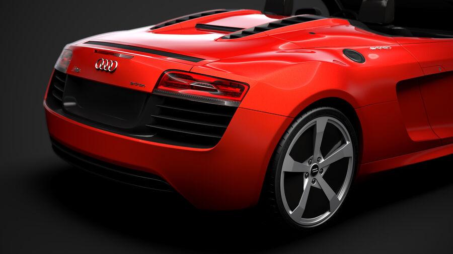 Audi R8 E Tron Spyder del 2016 royalty-free 3d model - Preview no. 11