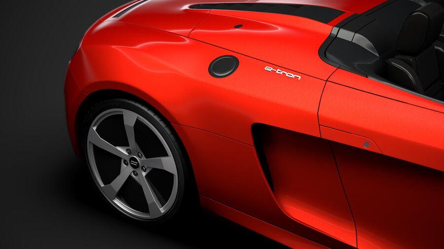 Audi R8 E Tron Spyder del 2016 royalty-free 3d model - Preview no. 12