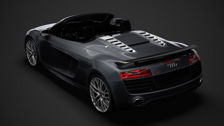 Audi R8 LMX Spyder del 2016 royalty-free 3d model - Preview no. 32