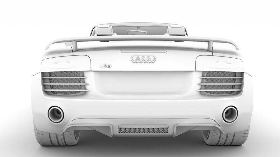 Audi R8 LMX Spyder del 2016 royalty-free 3d model - Preview no. 28