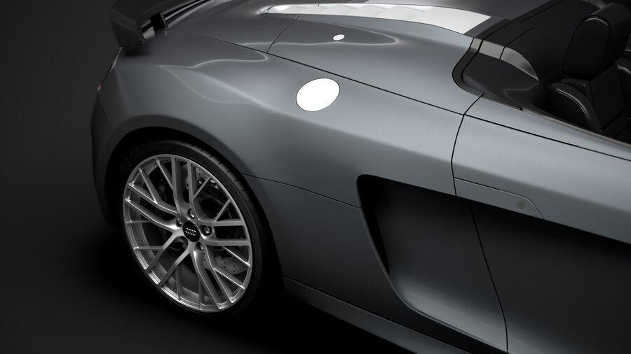 Audi R8 LMX Spyder del 2016 royalty-free 3d model - Preview no. 12