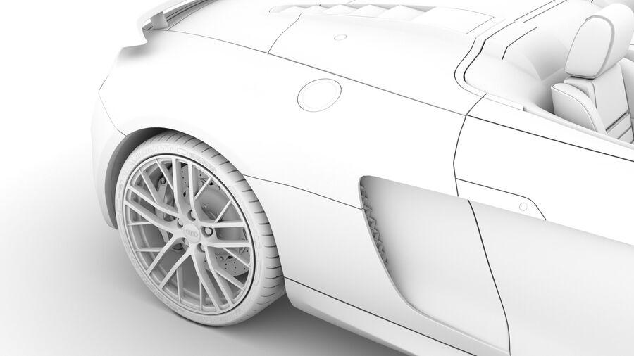 Audi R8 LMX Spyder del 2016 royalty-free 3d model - Preview no. 26
