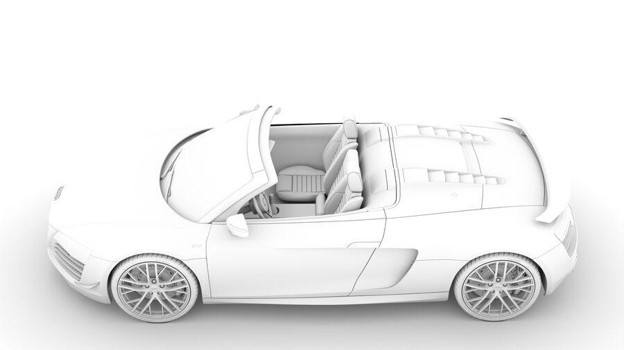Audi R8 LMX Spyder del 2016 royalty-free 3d model - Preview no. 19