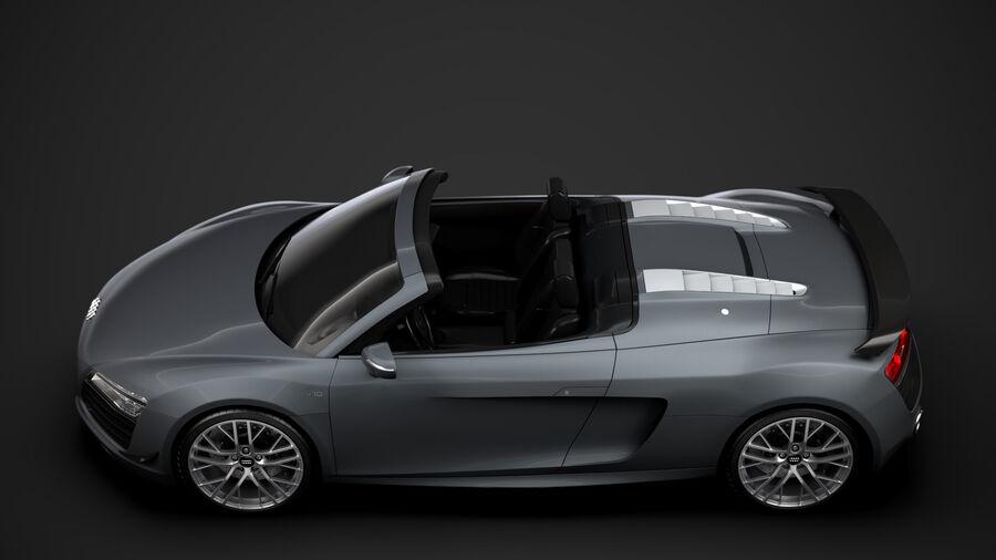 Audi R8 LMX Spyder del 2016 royalty-free 3d model - Preview no. 5
