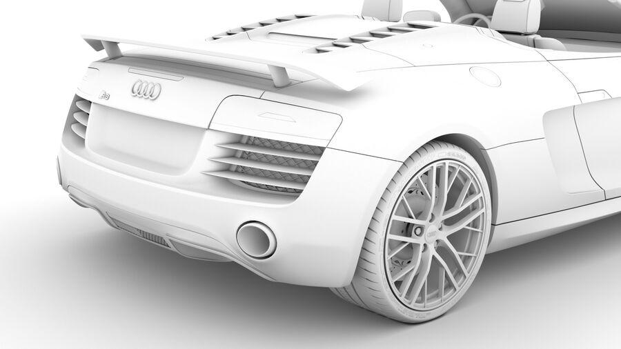 Audi R8 LMX Spyder del 2016 royalty-free 3d model - Preview no. 25