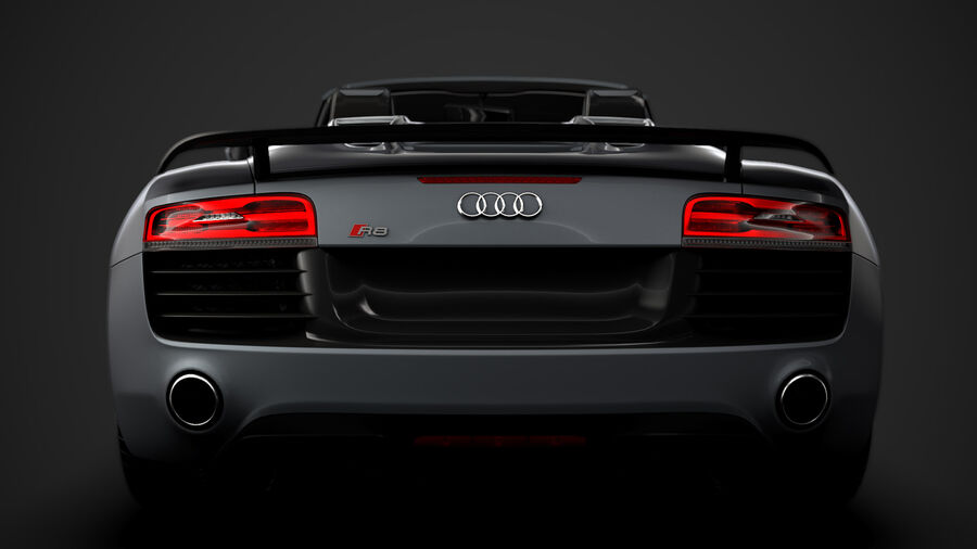 Audi R8 LMX Spyder del 2016 royalty-free 3d model - Preview no. 14
