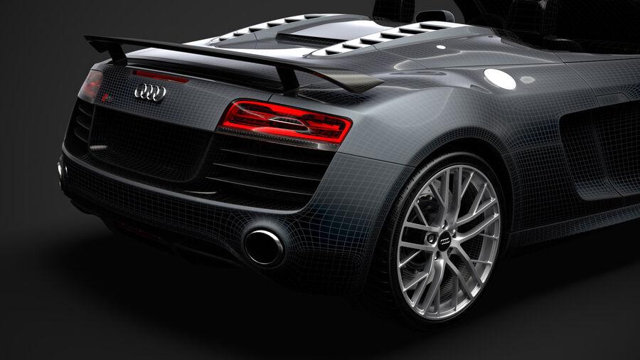 Audi R8 LMX Spyder del 2016 royalty-free 3d model - Preview no. 39