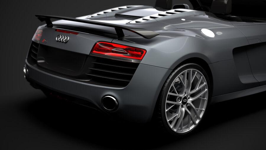 Audi R8 LMX Spyder del 2016 royalty-free 3d model - Preview no. 11