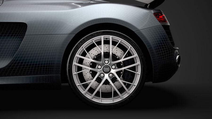 Audi R8 LMX Spyder del 2016 royalty-free 3d model - Preview no. 36
