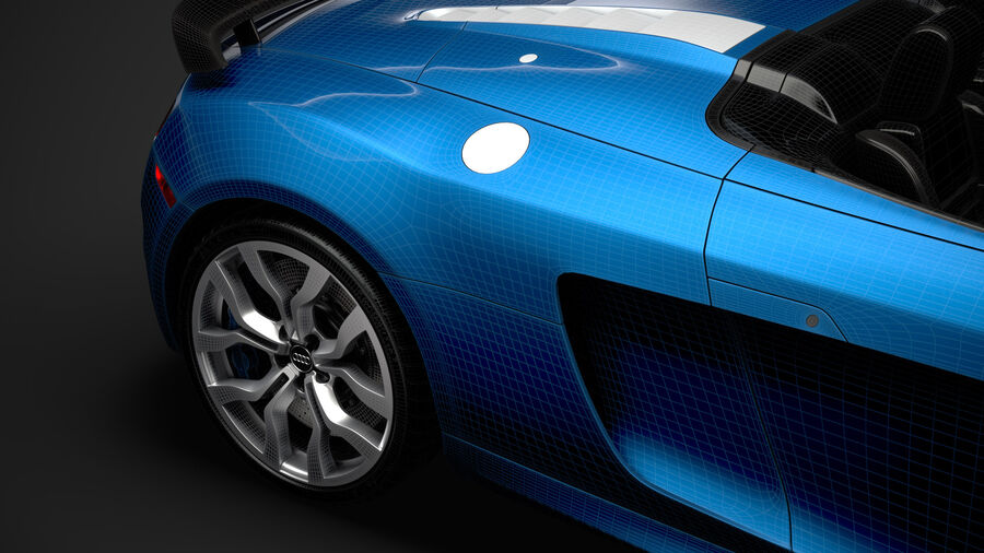 Audi R8 V10 Competizioni Spyder 2016 royalty-free 3d model - Preview no. 40