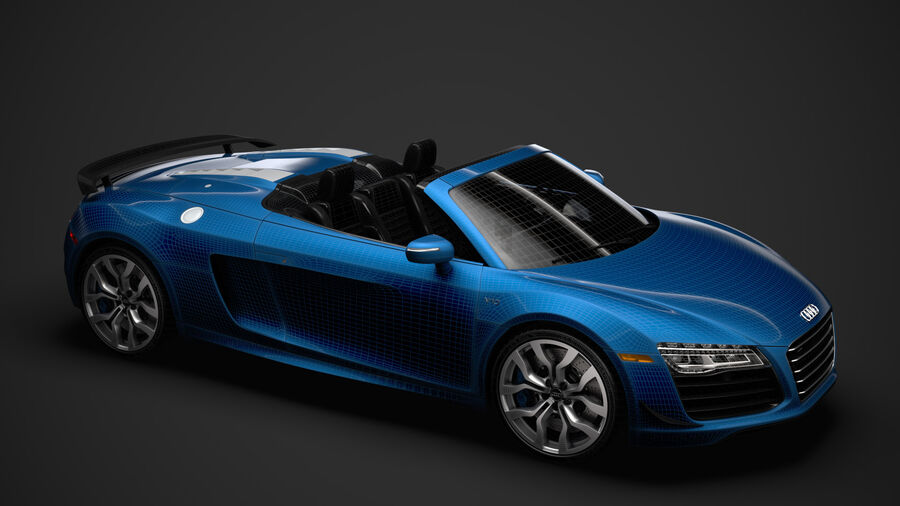 Audi R8 V10 Competizioni Spyder 2016 royalty-free 3d model - Preview no. 41