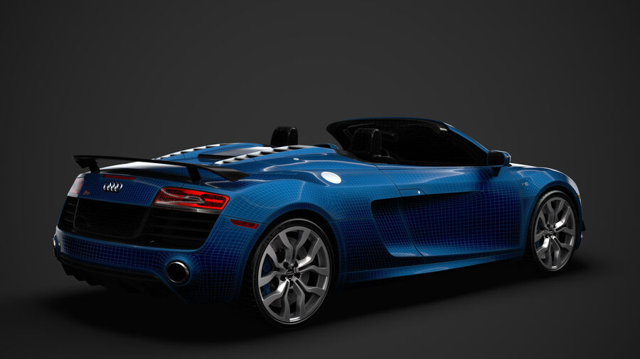 Audi R8 V10 Competizioni Spyder 2016 royalty-free 3d model - Preview no. 31