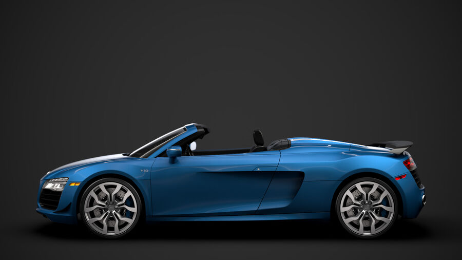 Audi R8 V10 Competizioni Spyder 2016 royalty-free 3d model - Preview no. 6