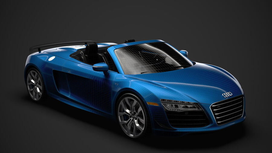 Audi R8 V10 Competizioni Spyder 2016 royalty-free 3d model - Preview no. 29