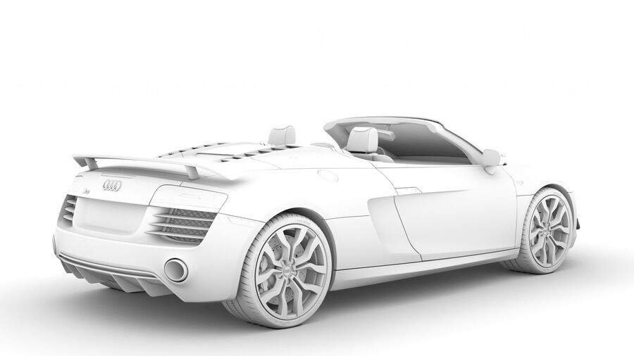 Audi R8 V10 Competizioni Spyder 2016 royalty-free 3d model - Preview no. 17