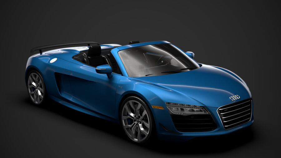 Audi R8 V10 Competizioni Spyder 2016 royalty-free 3d model - Preview no. 1