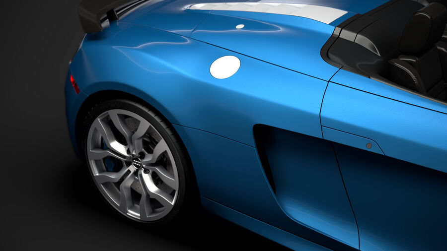Audi R8 V10 Competizioni Spyder 2016 royalty-free 3d model - Preview no. 12