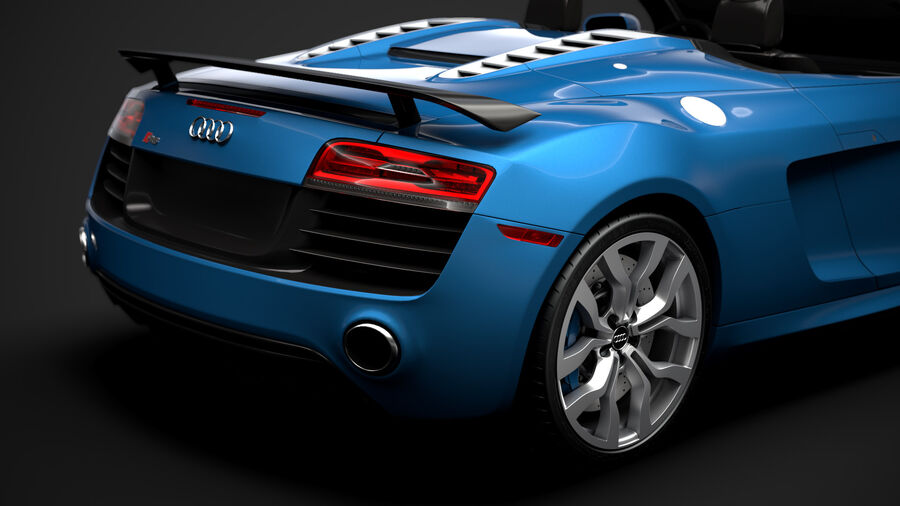 Audi R8 V10 Competizioni Spyder 2016 royalty-free 3d model - Preview no. 11