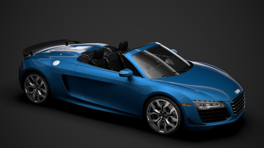 Audi R8 V10 Competizioni Spyder 2016 royalty-free 3d model - Preview no. 13