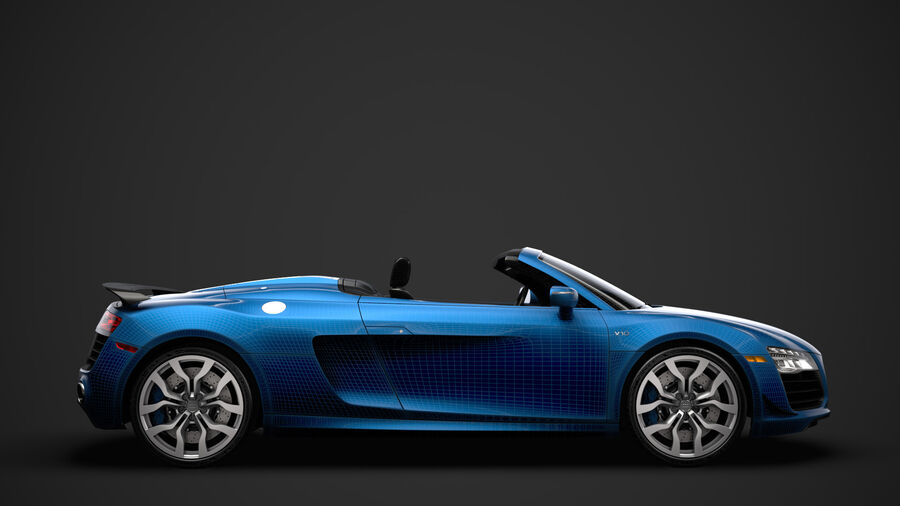 Audi R8 V10 Competizioni Spyder 2016 royalty-free 3d model - Preview no. 30