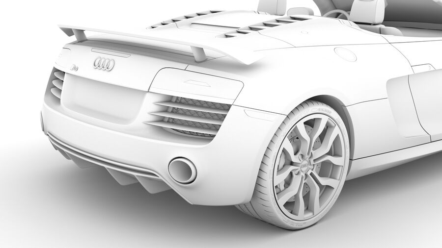 Audi R8 V10 Competizioni Spyder 2016 royalty-free 3d model - Preview no. 25