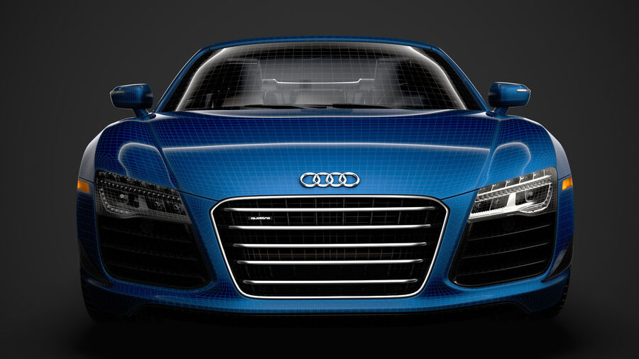 Audi R8 V10 Competizioni Spyder 2016 royalty-free 3d model - Preview no. 35