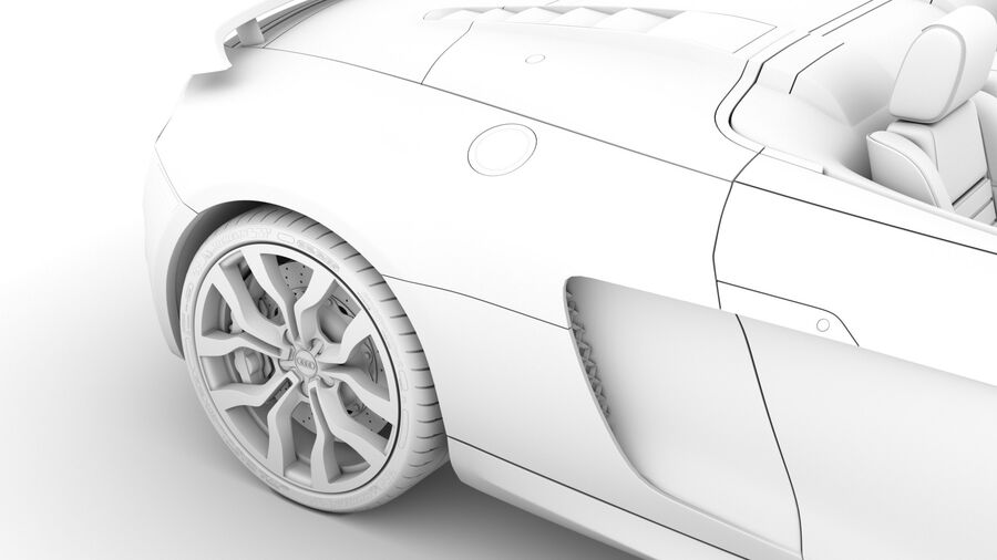 Audi R8 V10 Competizioni Spyder 2016 royalty-free 3d model - Preview no. 26