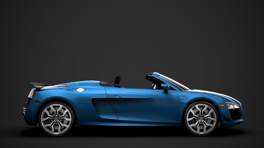 Audi R8 V10 Competizioni Spyder 2016 royalty-free 3d model - Preview no. 2