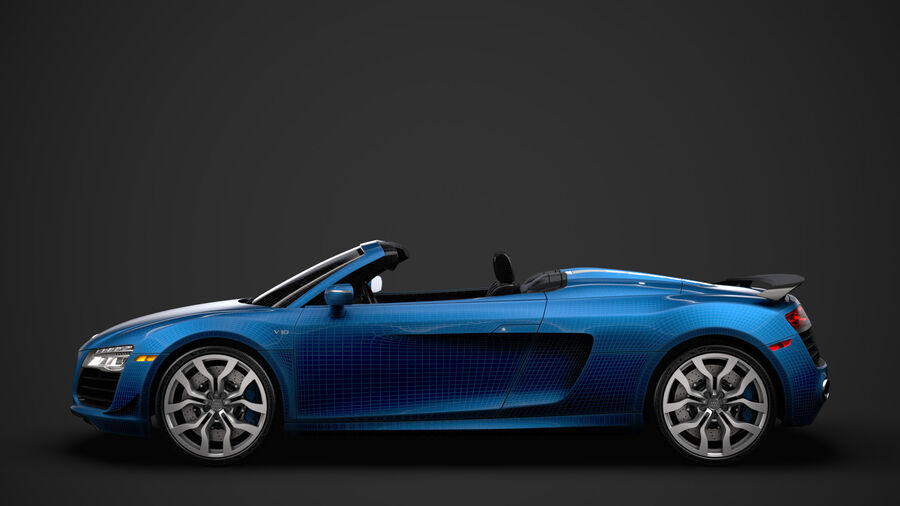 Audi R8 V10 Competizioni Spyder 2016 royalty-free 3d model - Preview no. 34
