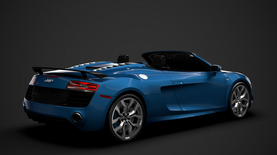 Audi R8 V10 Competizioni Spyder 2016 royalty-free 3d model - Preview no. 3